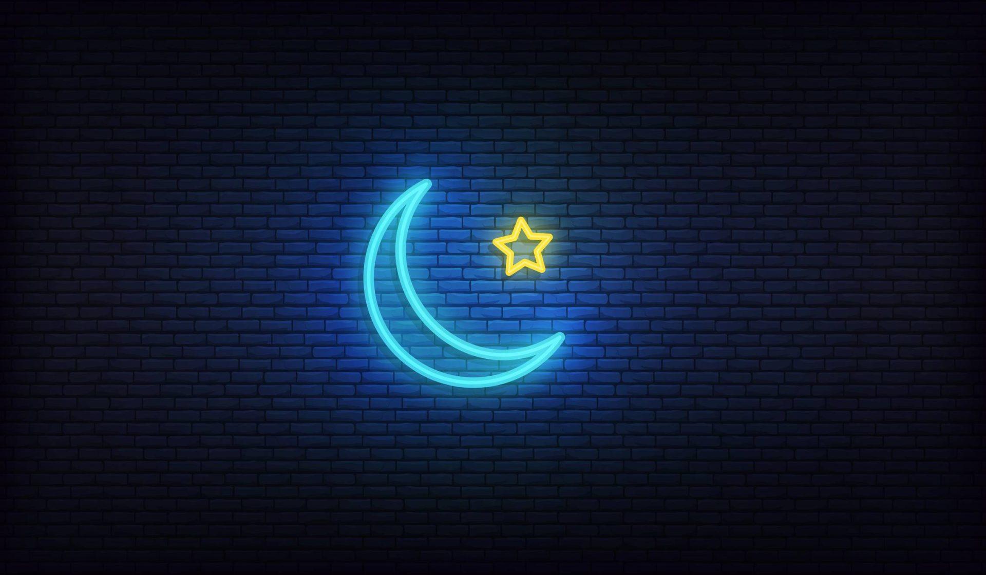 Lune étoilée LED forme création lumineuse