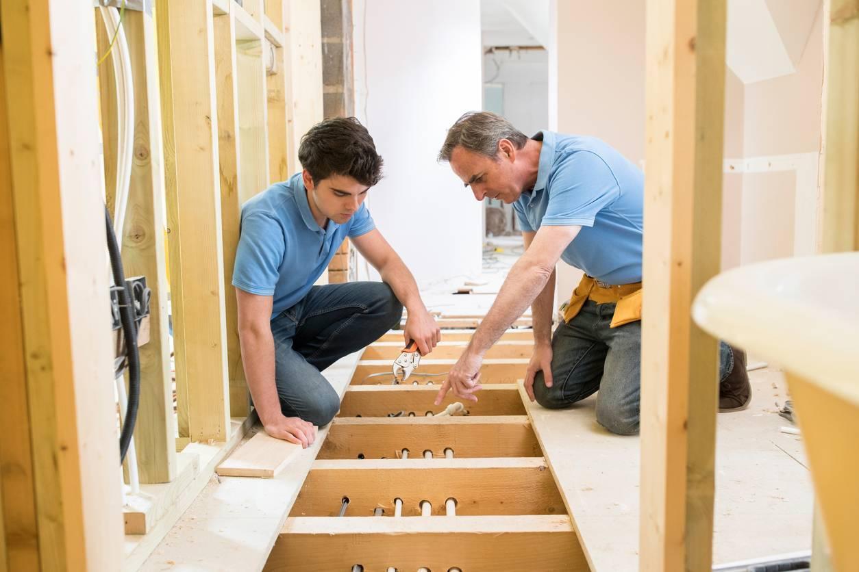 installation plancher chauffant sec