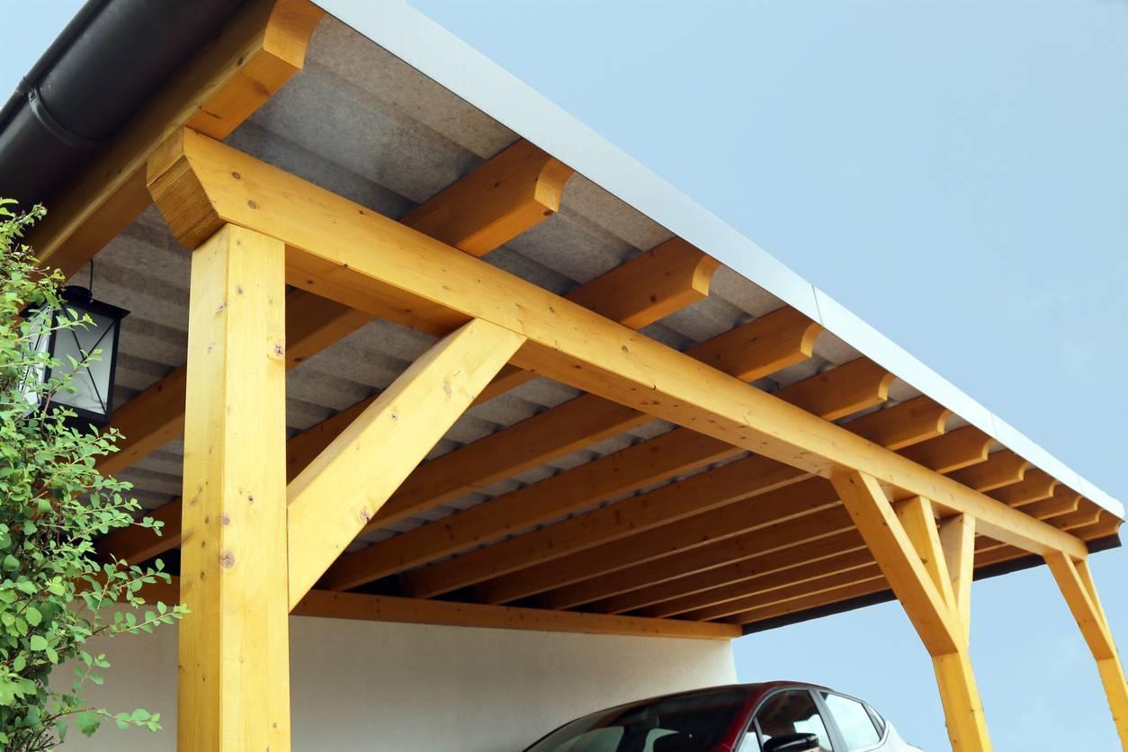 autoconstruction garage ossature bois